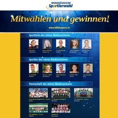 Niedersächsische Sportlerwahl 2018©LSB Niedersachsen